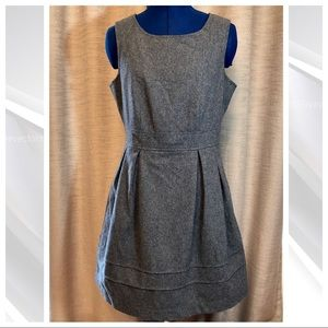 Tulle | Wool Blend Grey Fit & Flair Dress